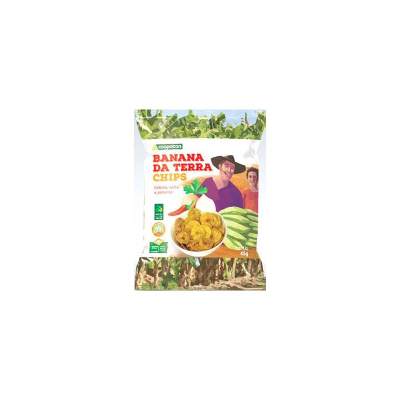 Banana Terra Chips Coopatan Cebola Salsa e Pimenta