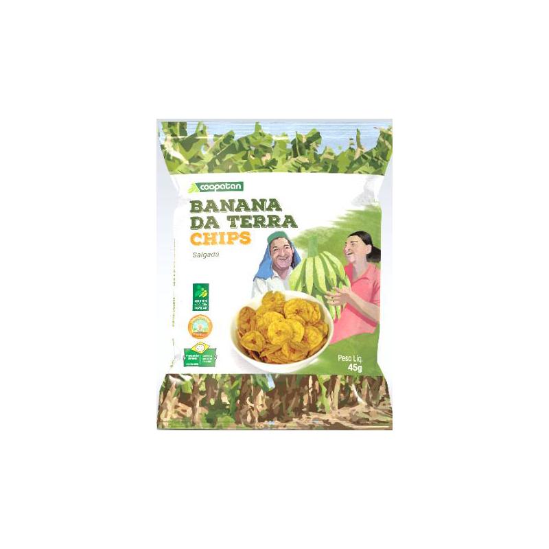 Banana Terra Chips Coopatan Salgada