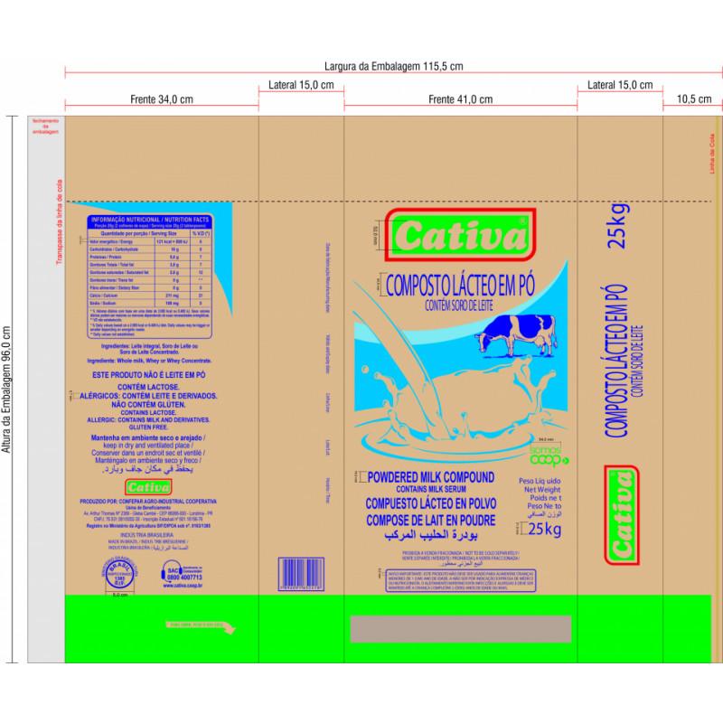 Composto Lácteo em Pó - Cativa 25kg