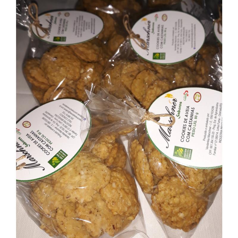 Cookies de Aveia com Castanhas