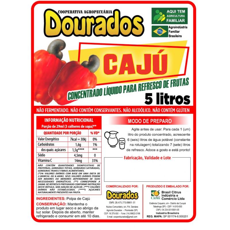 Concentrado Liquido para Refresco de Frutas Sabor CAJÚ
