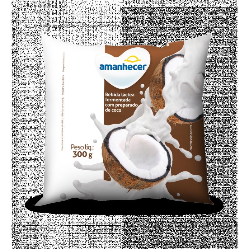 Bebida Láctea Sabor Coco 300 g Amanhecer