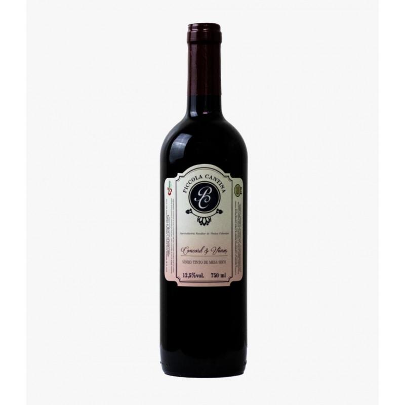 Vinho tinto de mesa Seco - Concord e Vênus